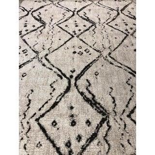 Nate Berkus for Kravet Globe Trot - Nero Taupe and Grey Scandinavian Upholstery Fabric - 3.75 Yards For Sale