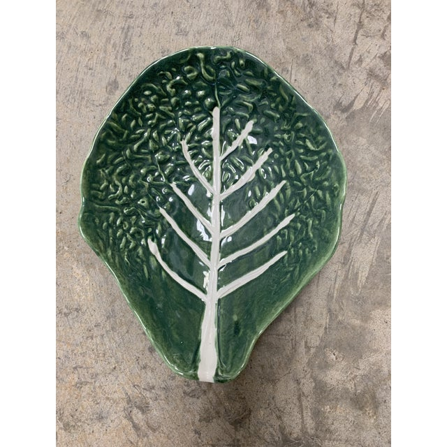 Majolica Cabbage Platter For Sale - Image 9 of 9
