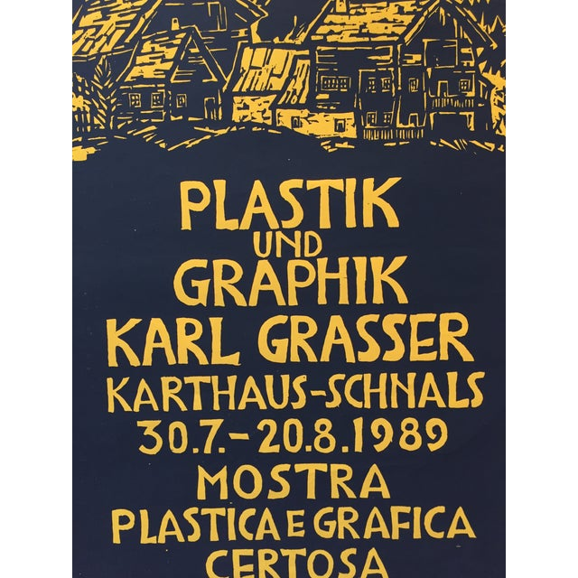 Contemporary 1989 Italian Exhibition Poster, Karl Grasser For Sale - Image 3 of 4