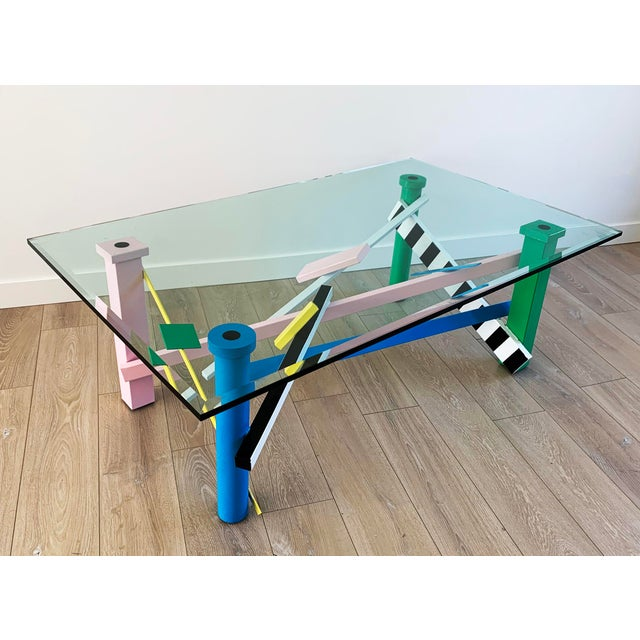 Post Modern Memphis Milano Style Coffee Table For Sale - Image 9 of 9