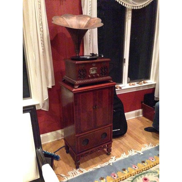 Mahogany Gramophone Replica - Image 2 of 5