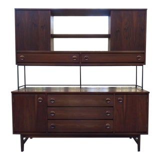 Mid Century Modern Walnut Cabinet by Stanley For Sale