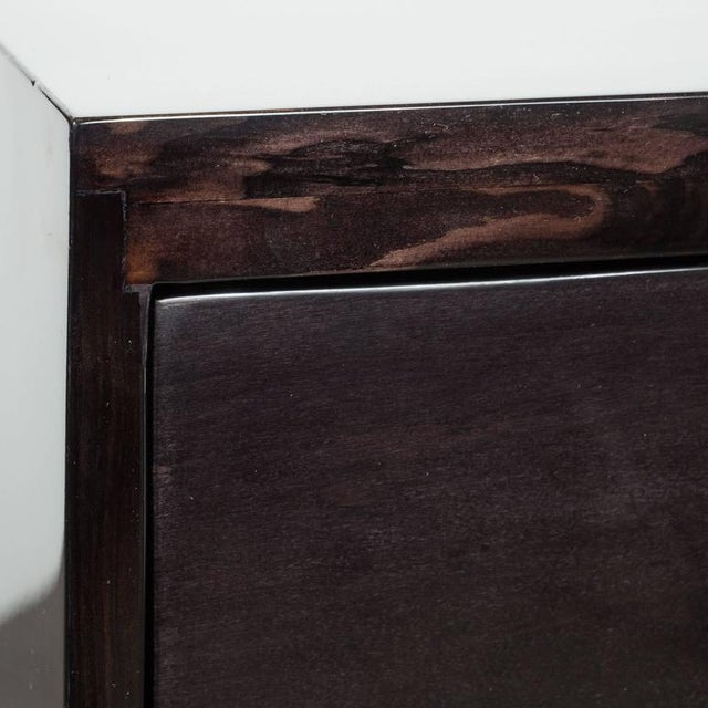 Pair of Mid-Century Greek-Key Nightstands or End Tables with Greek Key Pulls For Sale - Image 4 of 9
