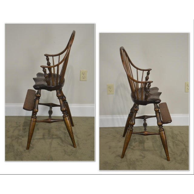 *STORE ITEM #: 19056 Windsor Style Childs Youth Arm Chair by K. Malone (18th Century Reproduction) AGE / ORIGIN: 1940s,...