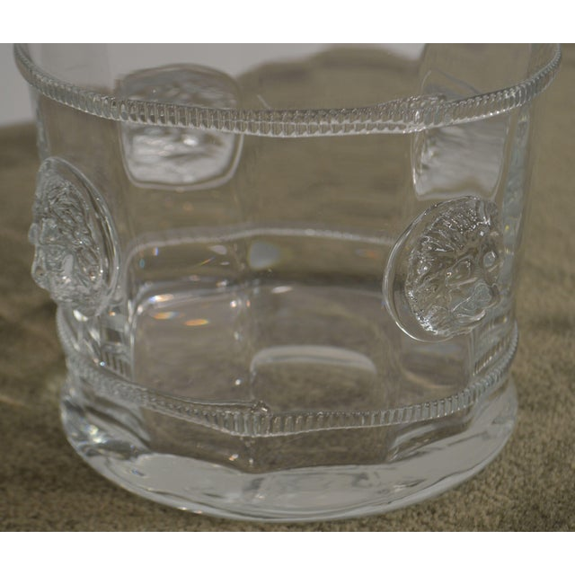 Abigails Czech Republic Lion Head Glass Ice Bucket For Sale - Image 10 of 13