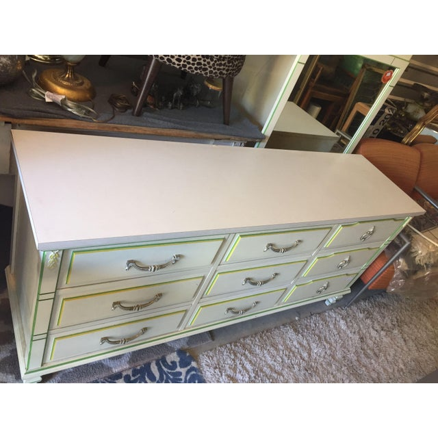 Morris of California 9 Drawer Dresser Cabinet and Mirror For Sale In San Francisco - Image 6 of 7