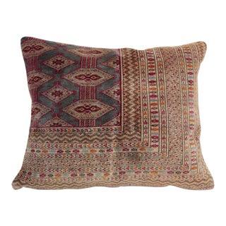 Vintage Turkoman Rug Pillow For Sale