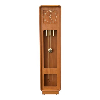 Teak Westminster Grandfather Clock