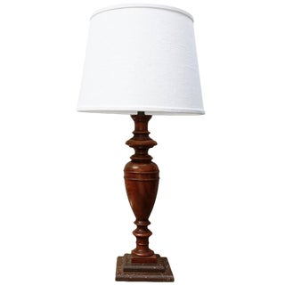 Mid 19th Century French Walnut Table Lamp For Sale