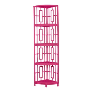 Trinity Corner Etagere - Bright Pink For Sale
