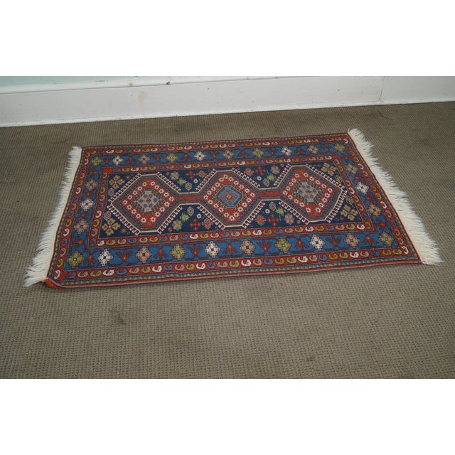 Red Quality Hand Tied Caucasian Rug - 3′7″ × 5′6″ For Sale - Image 8 of 10