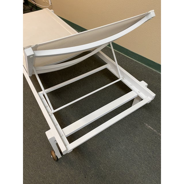 Metal Mamagreen Allux White Outdoor Lounger For Sale - Image 7 of 13