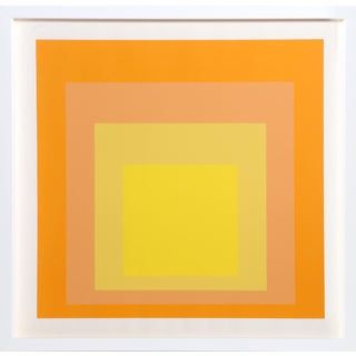 Interaction of Color: Homage to the Square, Framed Silkscreen by Josef Albers