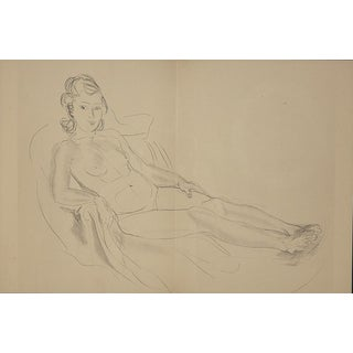 Raoul Dufy Lithograph: Nude , 1944 From Monograph of Designs & Sketches For Sale