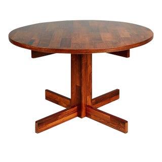 Jorge Zalszupin for L'atelier Jacaranda Rosewood Parquet Dining Table, Brazil