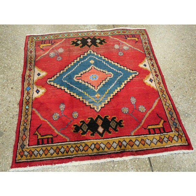 "Mid 20th Century Vintage Persian Mahal Rug – Size: 2' 9"" X 2' 11 For Sale - Image 5 of 10"