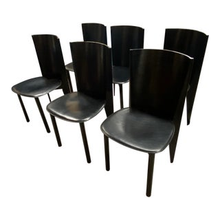 Set of 6 Italian Vintage Modern Chairs by Calligaris For Sale