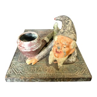 Cast Iron Gnome Habana Humidor Cover, Tobacco Accessory For Sale