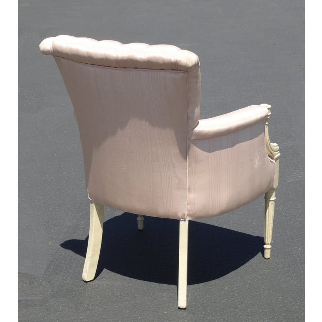 Pink Channel Back Accent Arm Chair For Sale - Image 5 of 11
