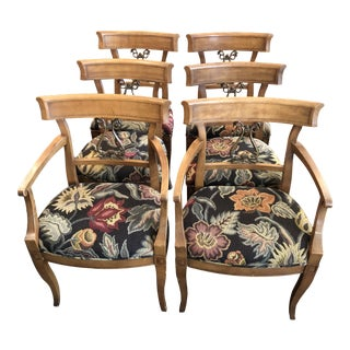 Vintage Mid-Century Henredon Klismos Chairs - Set of 6 For Sale