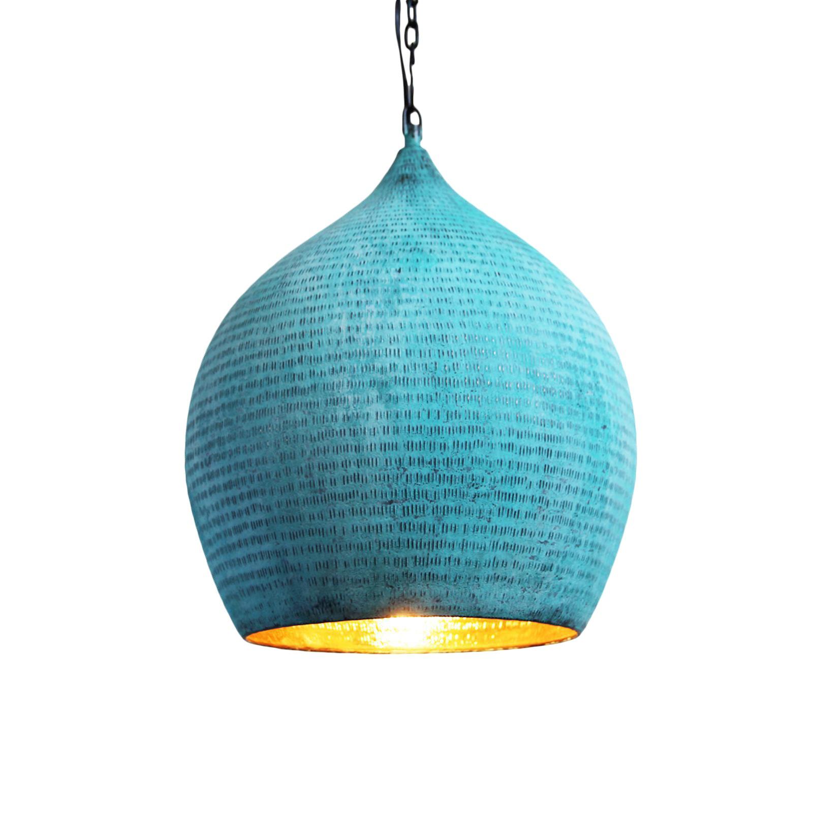Copper Hammered Pod Lantern Small | Chairish