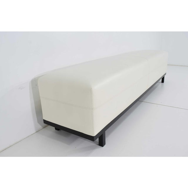Contemporary Pair of Christian Liaigre Nankin Benches in White Leather For Sale - Image 3 of 10