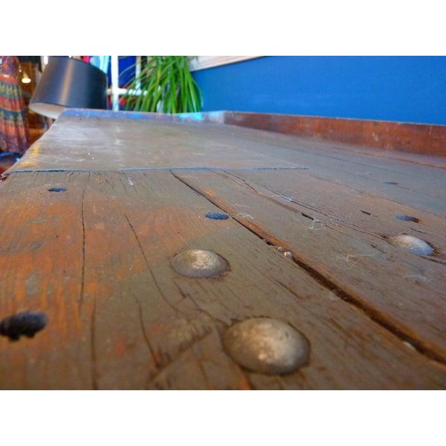 Brown Industrial, Old Welders Workbench For Sale - Image 8 of 13