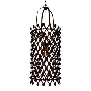 Rusted Garden Pendant Light For Sale