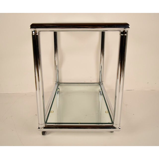 Mid-Century Modern Chrome End Tables - Pair - Image 6 of 7