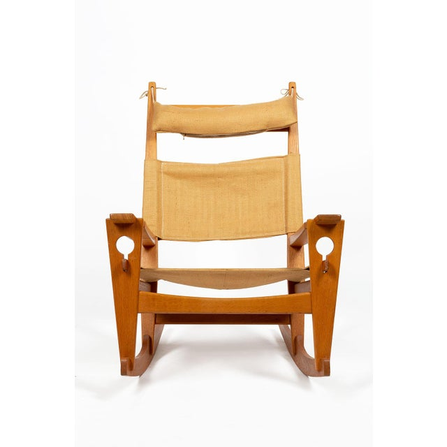 GETAMA Keyhole Rocking Chair by Hans Wegner For Sale - Image 4 of 13