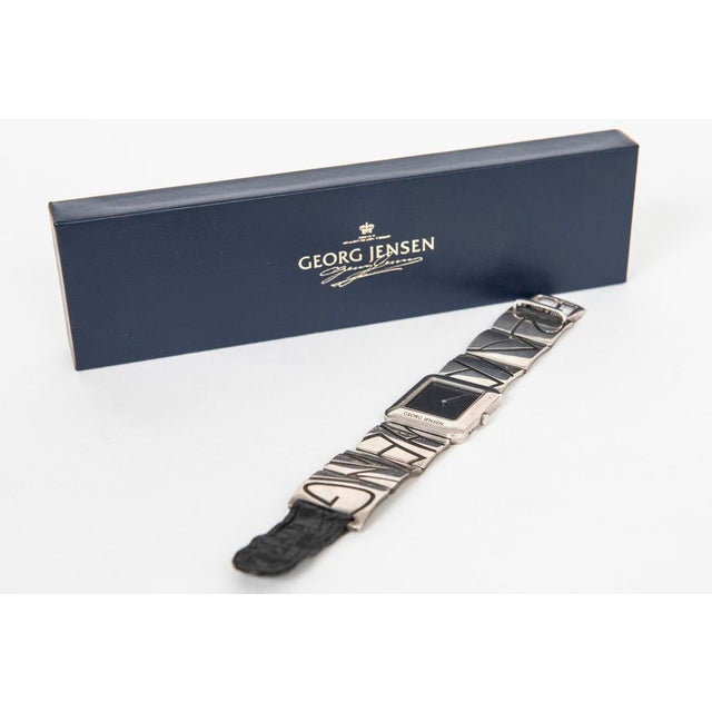 Modernist Georg Jensen sterling wrist watch, designed by Lene Munthe. This watch was a Georg Jensen private commission...