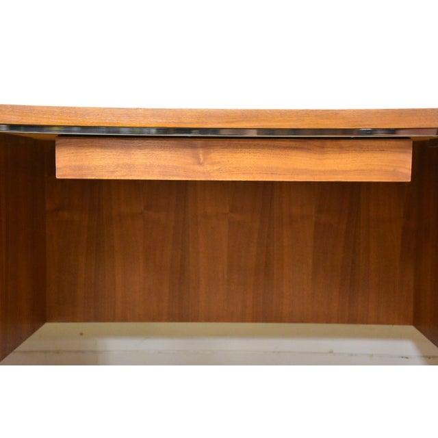 Lehigh Leopold Walnut Executive Desk For Sale - Image 10 of 11