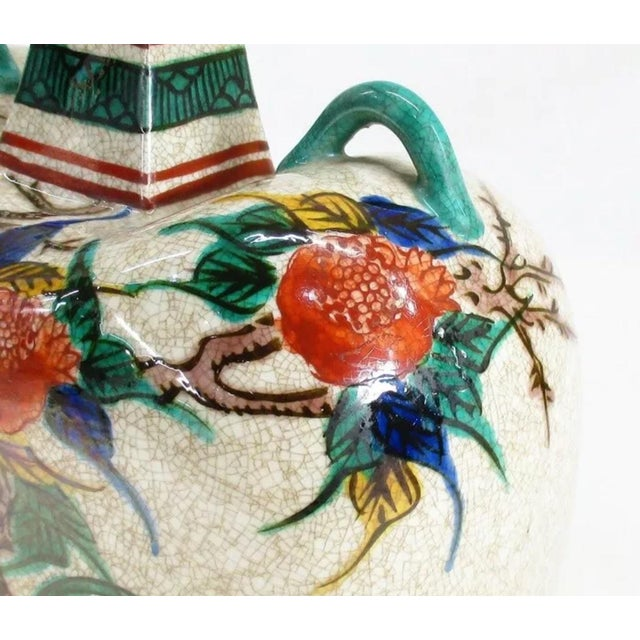 Antique Kutani Floral Vase For Sale In Chicago - Image 6 of 11