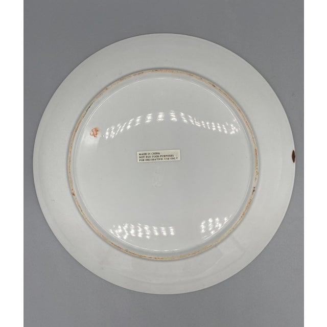 20th Century Chinese Tobacco Leaf Pattern Plates - a Pair For Sale In Houston - Image 6 of 10