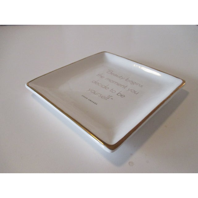 Boho Chic Trinket Tray Dish With a Quote From Coco Chanel For Sale - Image 3 of 5