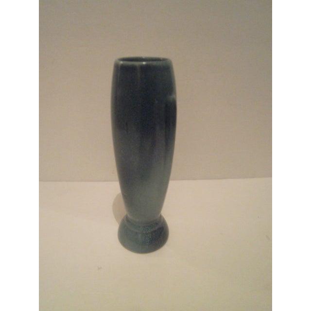 Vintage Blue Frankoma Vase - Image 3 of 9