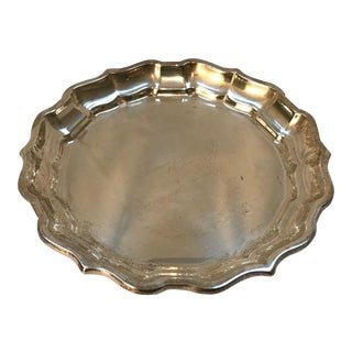 1950 Frank Smith Sterling Silver Chippendale Tray For Sale