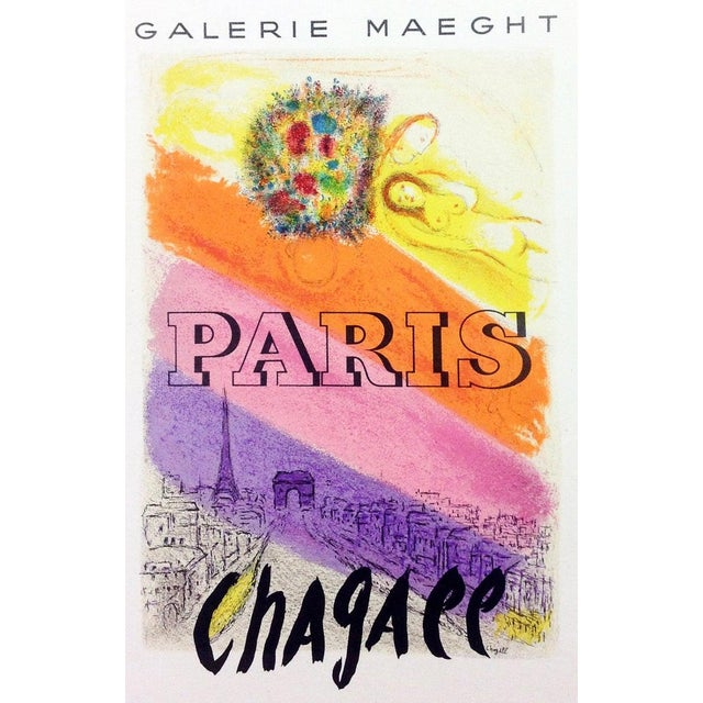 Title: Paris Artist: Marc Chagall Country:Russia Medium: Lithograph Paper size: 12.5 X 9.5 inch (reduced version of the...
