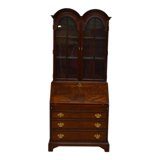 20th Century Hickory Chair Walnut Secretary Desk For Sale