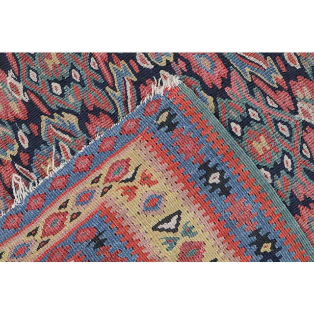 "Antique Senneh Kilim Rug - 4'1"" x 6'2"" - Image 2 of 4"