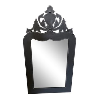 French Style Gray Mirror For Sale