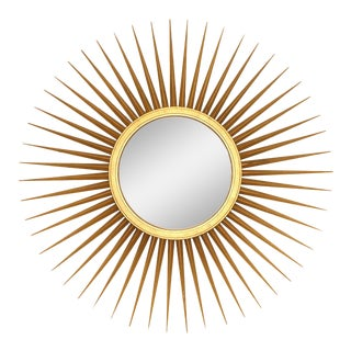 Baker Furniture Parish-Hadley Sunburst Convex Mirror For Sale