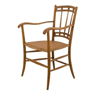 Italian Chiavari Armchair, Beech and Cane For Sale
