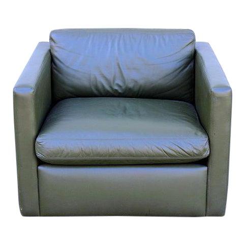 Fine Knoll Mid Century Green Leather Cube Chair Creativecarmelina Interior Chair Design Creativecarmelinacom