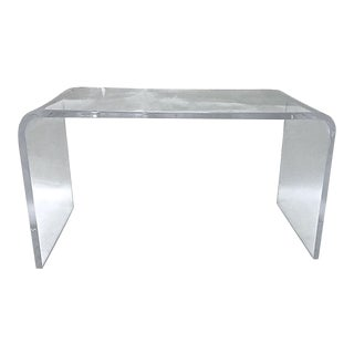 1970s Modernist Waterfall Lucite Table For Sale