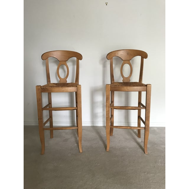Pottery Barn Modern Pottery Barn Barstool Chairs- A Pair For Sale - Image 4 of 6