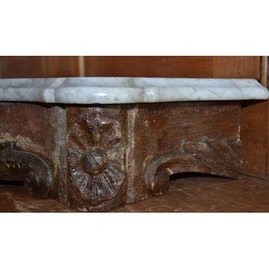 Marble Topped Wall Consoles - Pair - Image 4 of 6