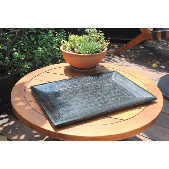 Mexican Hand-Carved Wooden Tray - Image 2 of 6