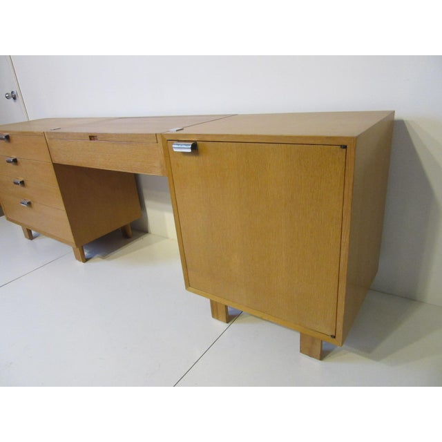 Herman Miller George Nelson for Herman Miller Oak 3 Pc. Vanity Chest Set For Sale - Image 4 of 13