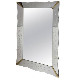 Large Venetian Style Mirror For Sale